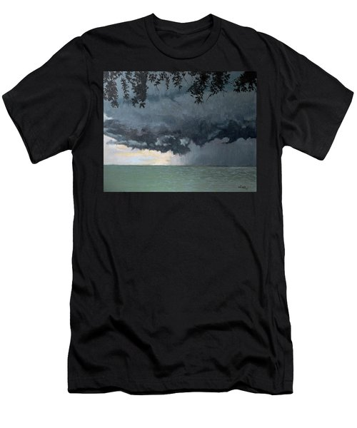 In Coming Storm-epping Forest On The Lake Men's T-Shirt (Athletic Fit)