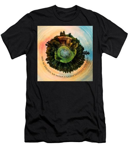 In Dreams A World Entirely Our Own Orb Men's T-Shirt (Athletic Fit)