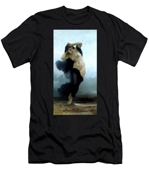 In Her Dreams She Flees The Night Men's T-Shirt (Athletic Fit)