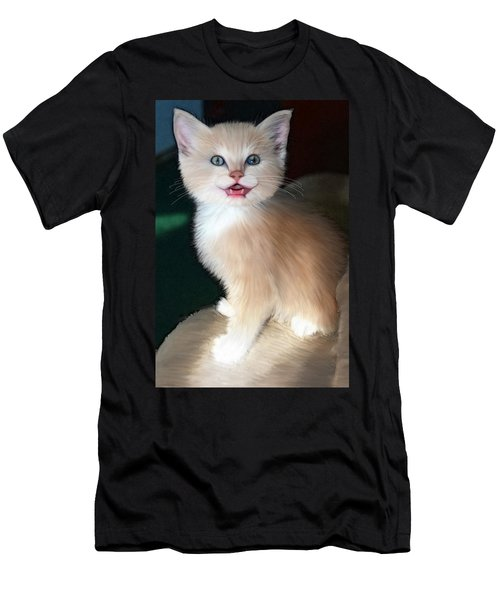 Men's T-Shirt (Slim Fit) featuring the digital art In Memoriam Baby Gussy by Holly Ethan