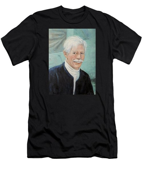 Men's T-Shirt (Slim Fit) featuring the painting In Memory Of Uncle Bud by Donna Tucker