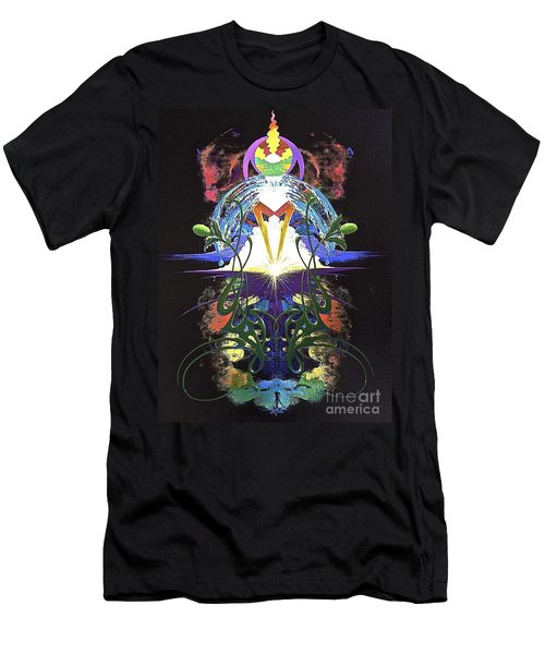 In The Beginning Men's T-Shirt (Slim Fit) by Alan Johnson