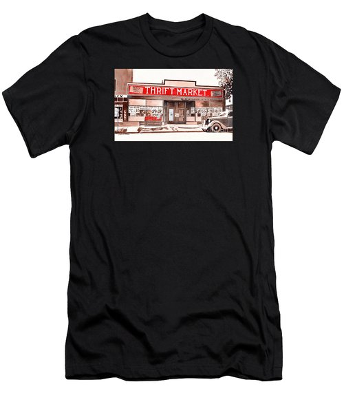 In The Beginning, Meijer, Greenville, Michigan, Old Store Front Men's T-Shirt (Athletic Fit)