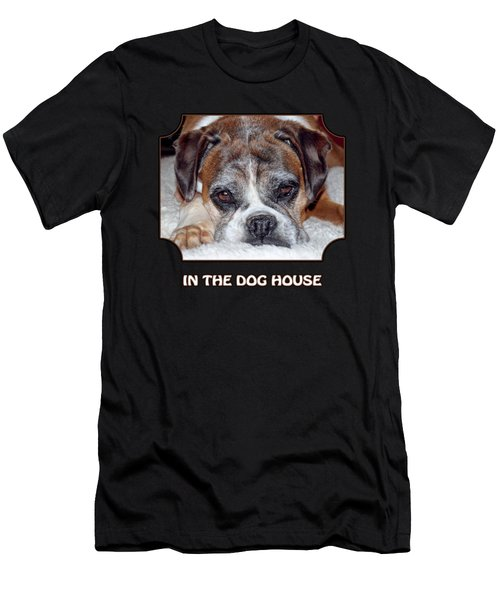 In The Dog House - Black Men's T-Shirt (Athletic Fit)