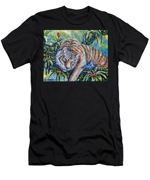 In The Eye Of The Tiger Men's T-Shirt (Athletic Fit)