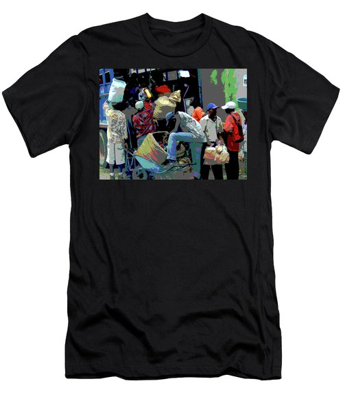 In The Market Place Men's T-Shirt (Slim Fit) by B Wayne Mullins