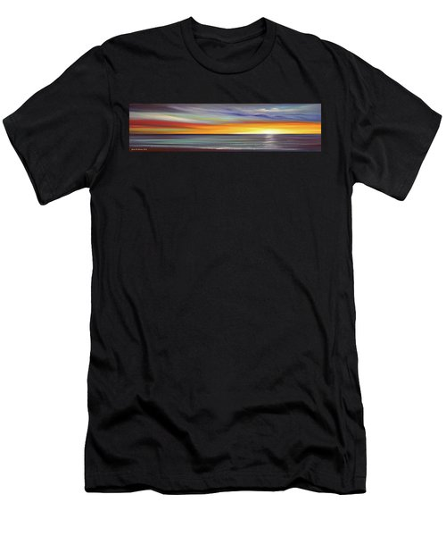 In The Moment Panoramic Sunset Men's T-Shirt (Athletic Fit)