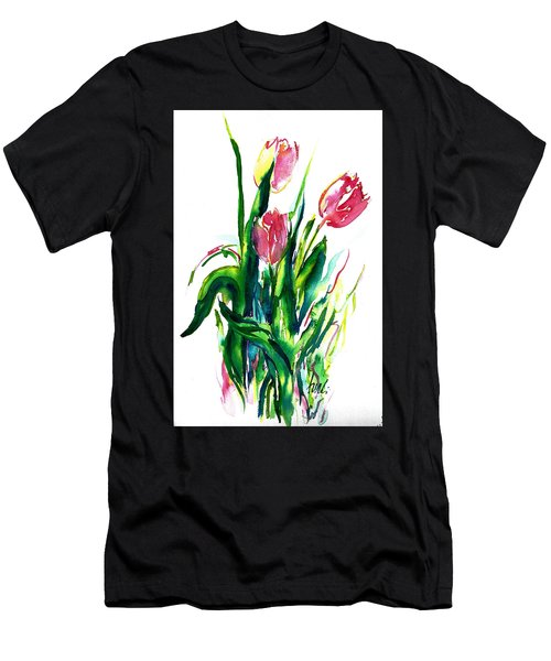 In The Pink Tulips Men's T-Shirt (Athletic Fit)