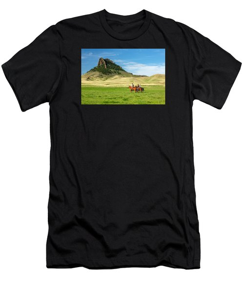 Men's T-Shirt (Athletic Fit) featuring the photograph In The Shadow Of Birdtail Butte by Todd Klassy