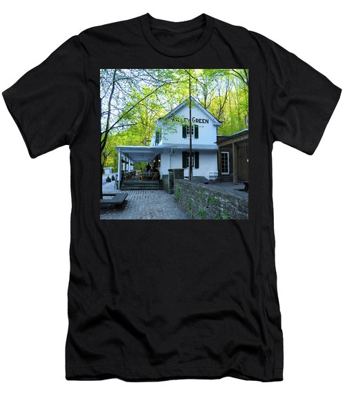 Men's T-Shirt (Athletic Fit) featuring the photograph In The Spring At Valley Green Inn by Bill Cannon