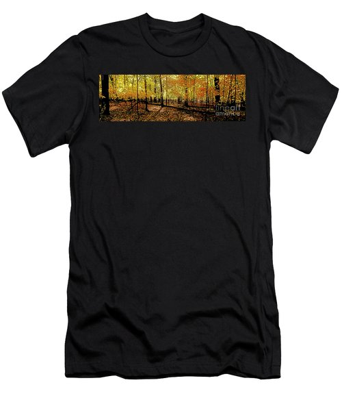 In The The Woods, Fall  Men's T-Shirt (Athletic Fit)