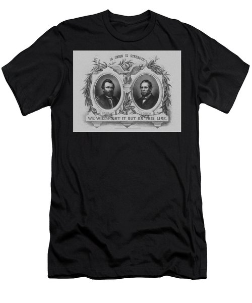 In Union Is Strength - Ulysses S. Grant And Schuyler Colfax Men's T-Shirt (Athletic Fit)