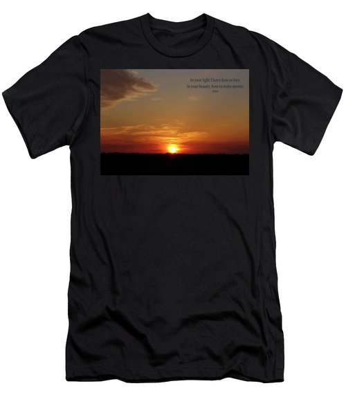 In Your Light Men's T-Shirt (Slim Fit) by Rhonda McDougall