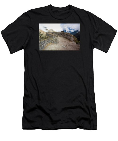 Inca Ruins In Clouds Men's T-Shirt (Athletic Fit)