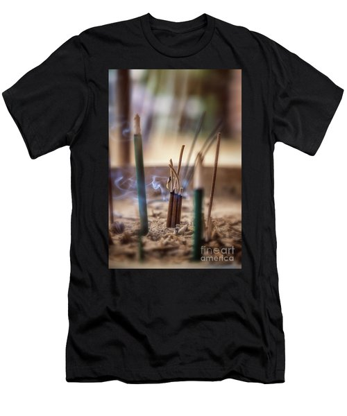 Incense Burning Men's T-Shirt (Athletic Fit)