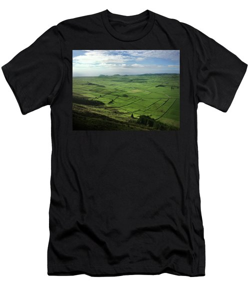 Incide The Bowl Terceira Island, Azores, Portugal Men's T-Shirt (Athletic Fit)