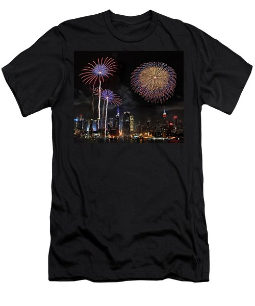Independence Day Men's T-Shirt (Slim Fit) by Roman Kurywczak