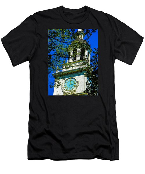 Independence Hall Clock Tower Men's T-Shirt (Athletic Fit)