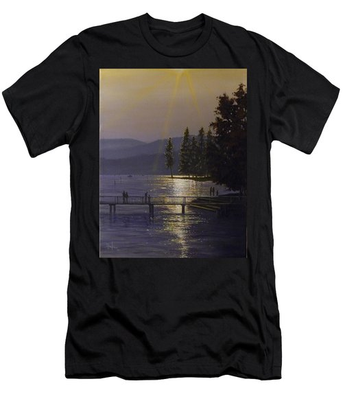 Independence Point, Lake Coeur D'alene Men's T-Shirt (Athletic Fit)