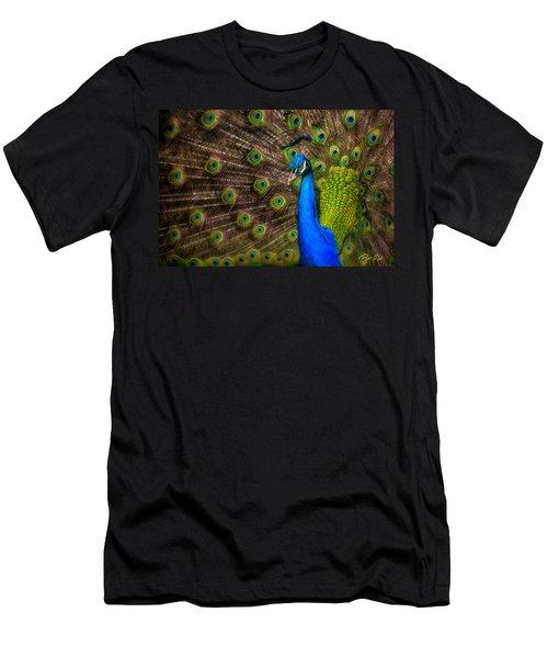 India Blue Men's T-Shirt (Athletic Fit)