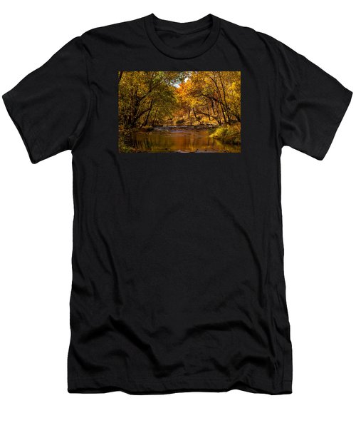 Indian Creek In Fall Color Men's T-Shirt (Athletic Fit)