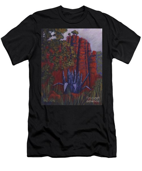 Indian Lodge Courtyard Fort Davis, Tx Men's T-Shirt (Athletic Fit)