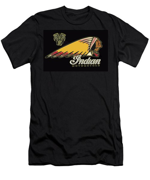 Indian Motorcycle Logo Series 2 Men's T-Shirt (Athletic Fit)