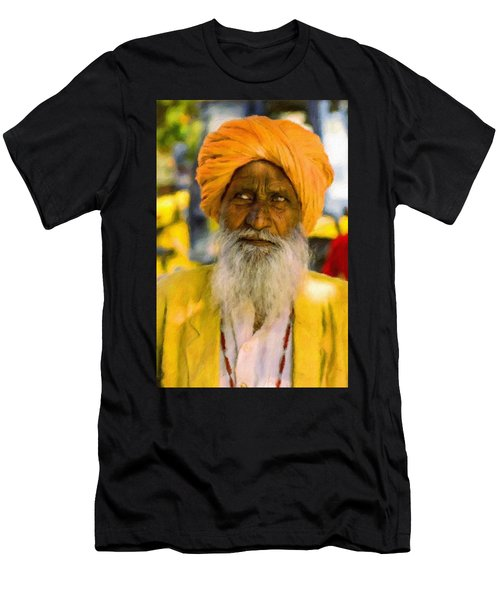 Indian Old Man Men's T-Shirt (Athletic Fit)