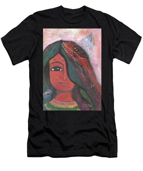 Indian Rajasthani Woman Men's T-Shirt (Athletic Fit)