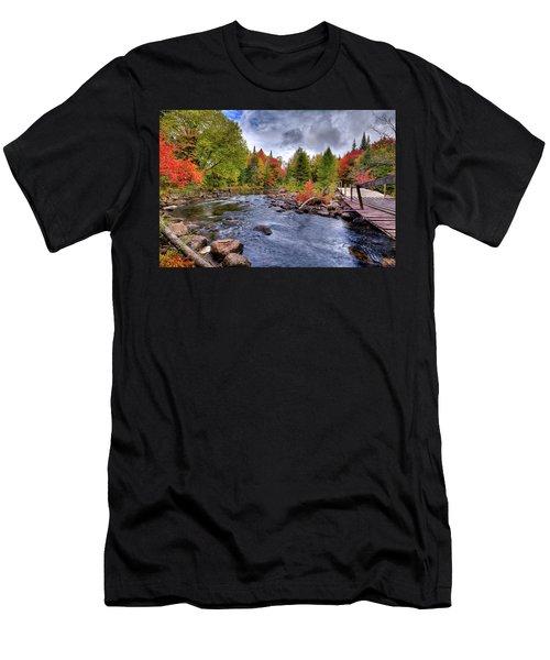 Indian Rapids Footbridge Men's T-Shirt (Athletic Fit)