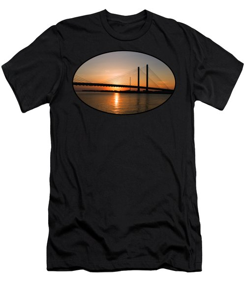 Indian River Bridge Sunset Reflections Men's T-Shirt (Athletic Fit)