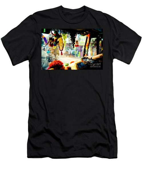 Indian Street From Window In The Bus Kerala India Men's T-Shirt (Athletic Fit)