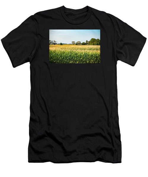Indiana Corn Field Men's T-Shirt (Athletic Fit)