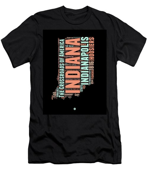 Indiana Word Cloud Map 1 Men's T-Shirt (Athletic Fit)