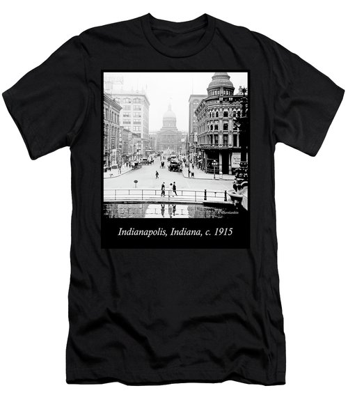 Indianapolis, Indiana, Downtown Area, C. 1915, Vintage Photograp Men's T-Shirt (Slim Fit) by A Gurmankin