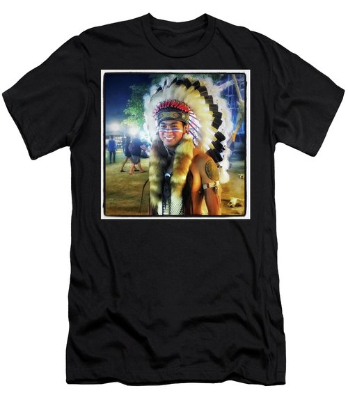 Men's T-Shirt (Athletic Fit) featuring the photograph Indians Invade Thailand. Cowboys Too by Mr Photojimsf