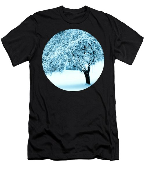 Indigo Blue Nature's Snow Sculpture  Men's T-Shirt (Athletic Fit)