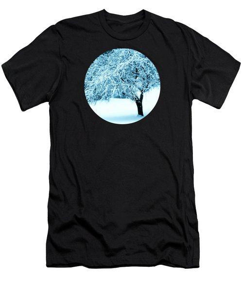 Indigo Blue Nature's Snow Sculpture  Men's T-Shirt (Athletic Fit)