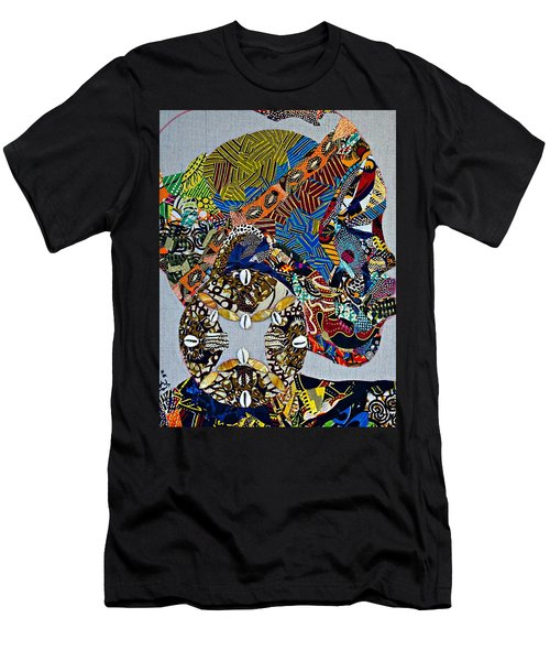 Men's T-Shirt (Athletic Fit) featuring the tapestry - textile Indigo Crossing by Apanaki Temitayo M
