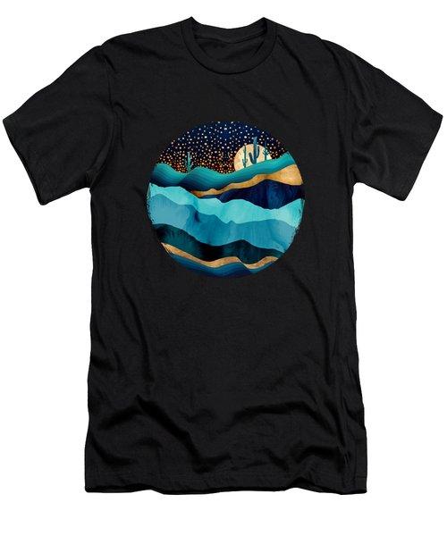 Indigo Desert Night Men's T-Shirt (Athletic Fit)