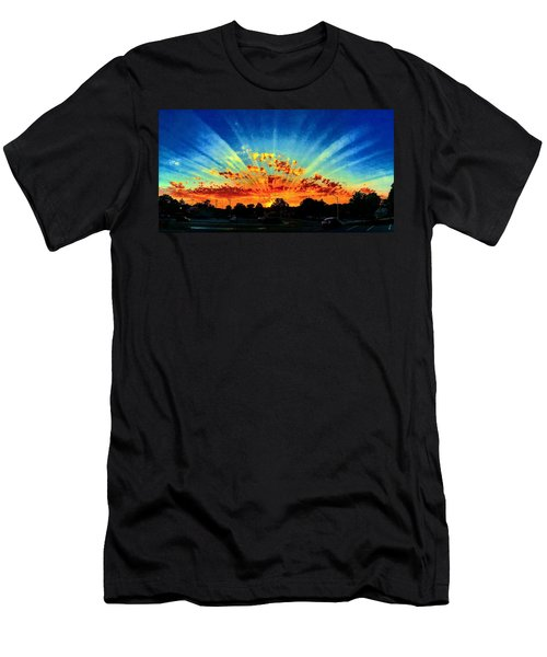 Infinite Rays From An Otherworldly Sunset Men's T-Shirt (Athletic Fit)