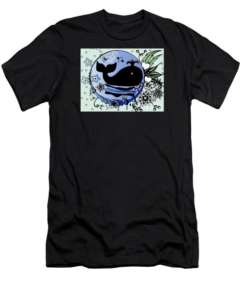 Ink And Pen Whale Drawing Men's T-Shirt (Slim Fit) by Saribelle Rodriguez