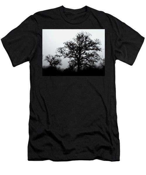 Ink And Photo Study Of Live Oaks Men's T-Shirt (Athletic Fit)