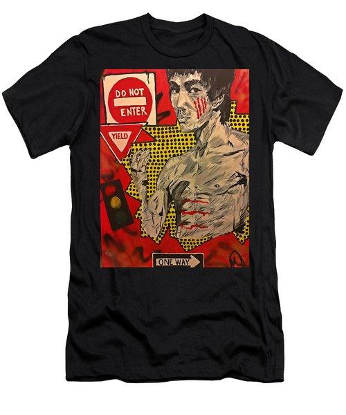 Inner Warrior  Men's T-Shirt (Slim Fit) by Miriam Moran