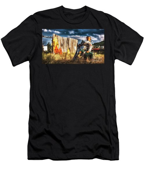 Men's T-Shirt (Athletic Fit) featuring the photograph Insanity by Bitter Buffalo Photography