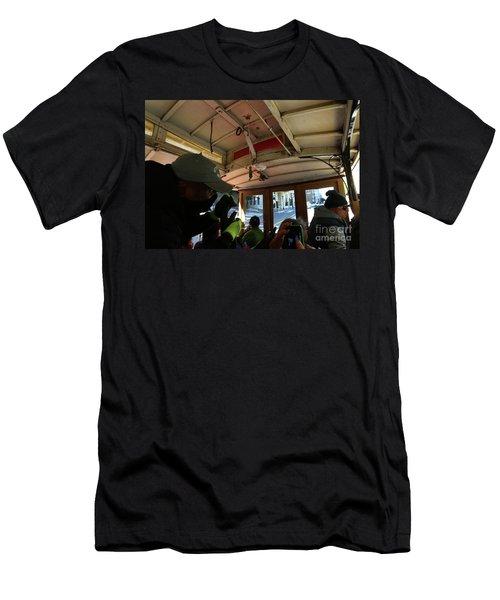 Inside A Cable Car Men's T-Shirt (Athletic Fit)