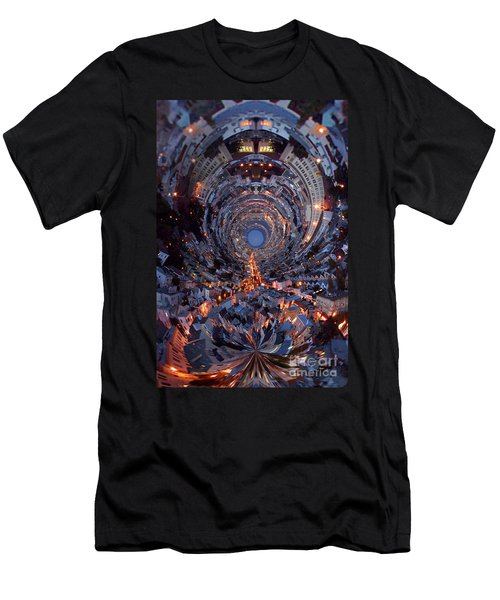 Inside A Space Station To The Galaxy Far Men's T-Shirt (Slim Fit) by Wernher Krutein