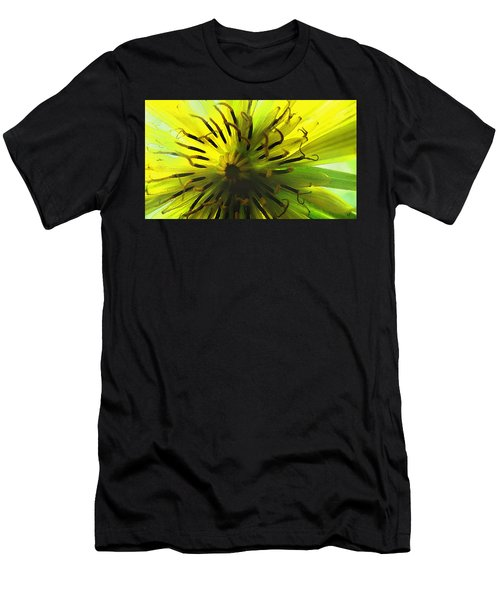 Inside A Yellow Goatsbeard  Men's T-Shirt (Athletic Fit)