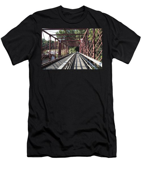 Inside The Bollman Truss Bridge At Savage Maryland Men's T-Shirt (Athletic Fit)