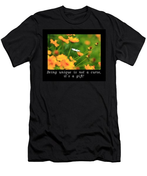 Inspirational-being Unique Is A Gift Men's T-Shirt (Athletic Fit)